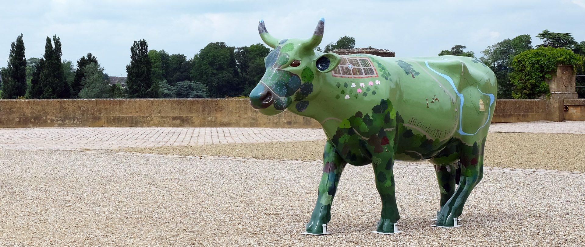 Emily Ketteringham's Capability Brown Cow for Ecclesiastical Insurance at Blenheim Palace.