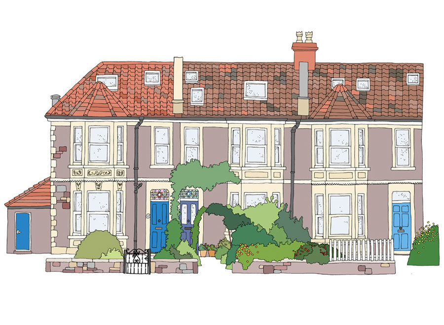 House portrait by Bristol artist Emily ketteringham